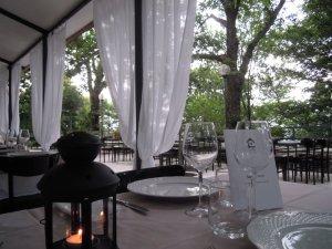 Il ristorante in estate
