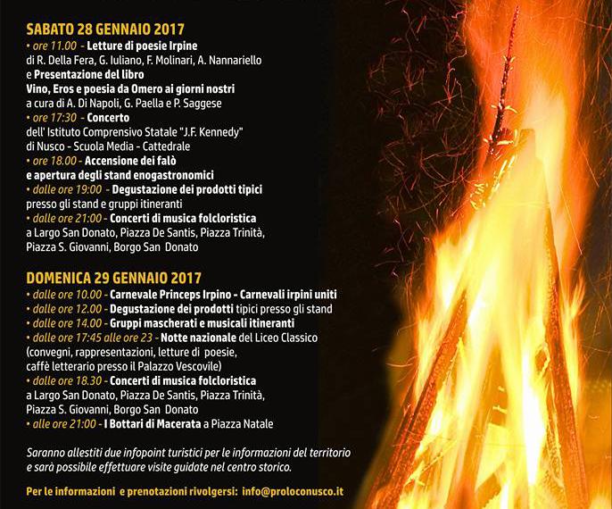 Programma Falò di Nusco 2017